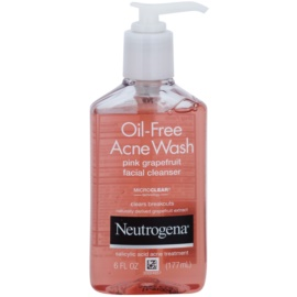 Neutrogena Oil-Free Acne Wash gel limpiador para el rostro  177 ml
