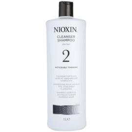 Nioxin System 2 Shampoo  voor Aanzienlijk Dun wordend Natuurlijk Haar   1000 ml
