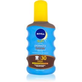Nivea Sun Protect & Bronze száraz olaj napozáshoz SPF30  200 ml