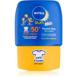Nivea Sun Kids kieszonkowe mleczko do opalania dla dzieci SPF50+  50 ml