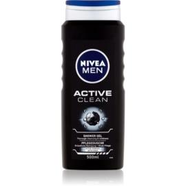 Nivea Men Active Clean tusfürdő gél  arcra, testre és hajra uraknak  500 ml