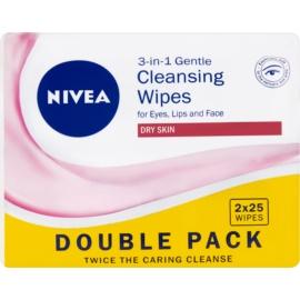 Nivea 3in1 Gentle almohadillas limpiadoras suaves 3 en 1  2 x 25 ud