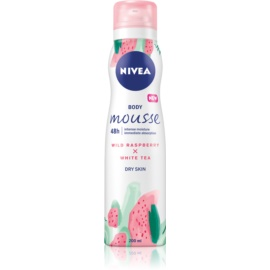 Nivea Wild Raspberry & White Tea Body Mousse For Intensive Hydratation  200 ml