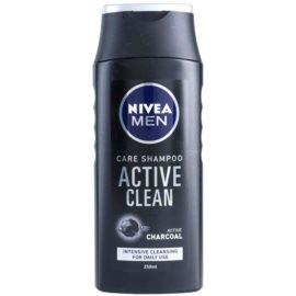 Nivea Men Active Clean champô com ingredientes ativos de carvão  250 ml