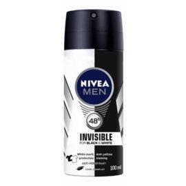 Nivea Men Invisible Black & White antitranspirante em spray para homens  100 ml