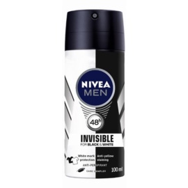 Nivea Men Invisible Black & White Antiperspirant Spray For Men  100 ml