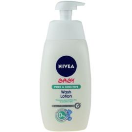Nivea Baby Pure & Sensitive gel de limpeza para rosto, corpo e cabelo  500 ml
