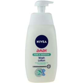 Nivea Baby Pure & Sensitive Washing Gel For Face Body And Hair  500 ml
