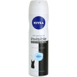 Nivea Invisible Black & White Pure антиперспирант-спрей 48h  150 мл.