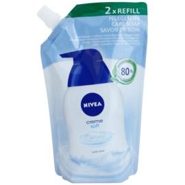 Nivea Creme Soft mydło w płynie napełnienie  500 ml