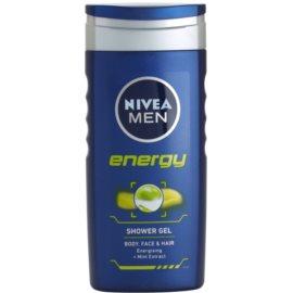 Nivea Men Energy tusfürdő gél arcra, testre és hajra  250 ml