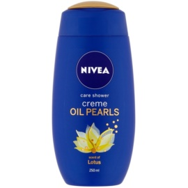 Nivea Creme Oil Pearls Caring Shower Gel Lotus 250 ml