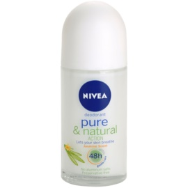Nivea Pure & Natural Deodorant roll-on 48h  50 ml
