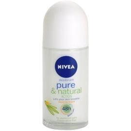 Nivea Pure & Natural desodorante roll-on  48h  50 ml