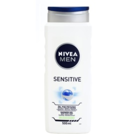 Nivea Men Sensitive gel de dus pe fata , corp si par  500 ml