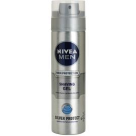 Nivea Men Silver Protect gel de afeitar  200 ml