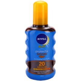 Nivea Sun Protect & Bronze suchý olej na opalování SPF 20  200 ml