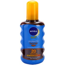Nivea Sun Protect & Bronze suchy olejek do opalania SPF 20  200 ml
