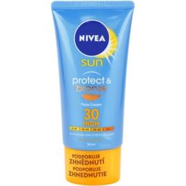 Nivea Sun Protect & Bronze creme solar intensivo para rosto SPF 30  50 ml