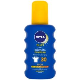 Nivea Sun Protect & Moisture hidratáló napozó spray SPF 30  200 ml