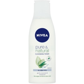 Nivea Visage Pure & Natural tónico limpiador facial   200 ml