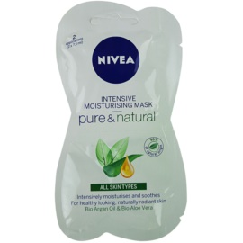 Nivea Visage Pure & Natural masca faciala hidratanta  2x7,5 ml