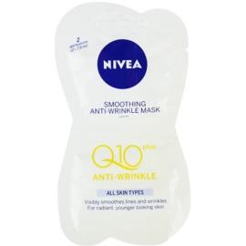 Nivea Visage Q10 Plus vyhlazující maska proti vráskám  2x7,5 ml