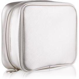 Notino Basic Potovalna kozmetična torbica za ženske srebrna (21 × 6,5 × 16,5 cm)