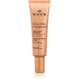 Nuxe Éclat Prodigieux crema hidratante con color tono 02 Golden Radiance  30 ml