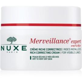 Nuxe Merveillance Anti-Falten Creme für trockene bis sehr trockene Haut  50 ml