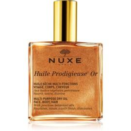Nuxe Huile Prodigieuse OR Multifunctionele droog olie met glitters  voor Gezicht, Lichaam en Haar   100 ml