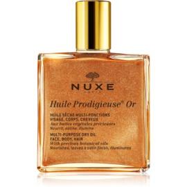 Nuxe Huile Prodigieuse OR Multifunctionele droog olie met glitters  voor Gezicht, Lichaam en Haar   50 ml
