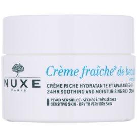 Nuxe Crème Fraîche de Beauté zklidňující a hydratační krém pro suchou až velmi suchou pleť  50 ml
