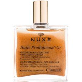 Nuxe Huile Prodigieuse OR multifunkční suchý olej se třpytkami na obličej, tělo a vlasy  50 ml