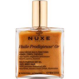 Nuxe Huile Prodigieuse OR Multifunktions-Trockenöl mit Glitzerpartikeln für Gesicht, Körper und Haare  100 ml