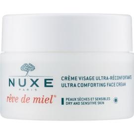 Nuxe Reve de Miel dnevna hranilna in vlažilna krema za suho kožo  50 ml