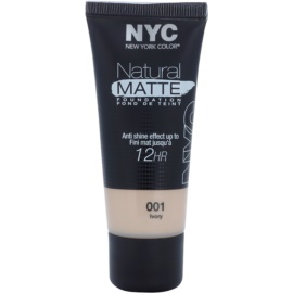 NYC Natural Matte 12H tekutý make-up proti lesknutí pleti odstín 001 Ivory 30 ml