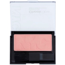 NYC Cheek Glow tvářenka se štětečkem odstín 649 Prospect Park Rose 8,1 g