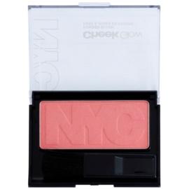 NYC Cheek Glow blush com pincel tom 702 Park Slope Pink 8,1 g