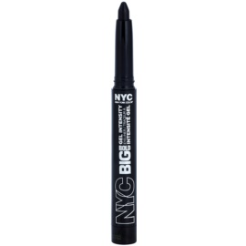 NYC Big Bold Gel Intensity tužka na oči odstín 001 Leather Black 1,3 g