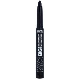 NYC Big Bold Gel Intensity tužka na oči odstín 001 Leather Black 1,3 g