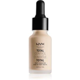 NYX Professional Makeup Total Control Drop Foundation tekoči puder odtenek 02 Alabaster 13 ml