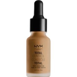 NYX Professional Makeup Total Control Drop Foundation tekoči puder odtenek 16 Mahogany 13 ml