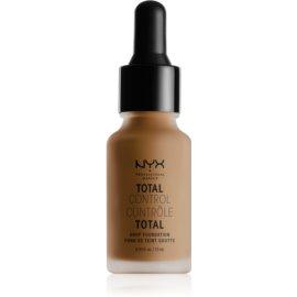 NYX Professional Makeup Total Control Drop Foundation tekoči puder odtenek 18 Deep Sable 13 ml