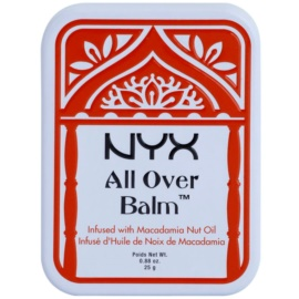 NYX Professional Makeup All Over tělový balzám Macadamia Nut Oil 25 g
