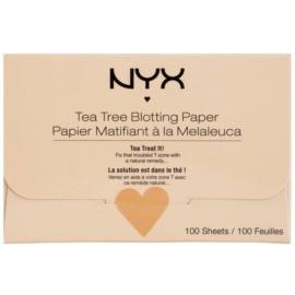 NYX Professional Makeup Blotting Paper papírky na zmatnění s čajovníkem  100 ks
