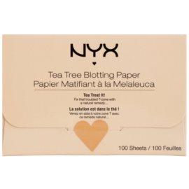 NYX Professional Makeup Blotting Paper листчета за матиране с чаено дърво  100 бр.