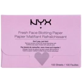 NYX Professional Makeup Blotting Paper papírky na zmatnění s kyselinou salicylovou  100 ks
