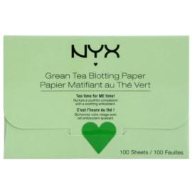 NYX Professional Makeup Blotting Paper papírky na zmatnění se zeleným čajem  100 ks