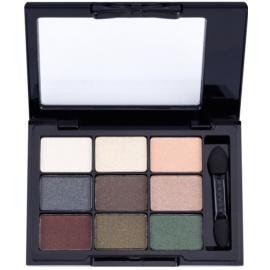 NYX Professional Makeup Love in Paris paleta de sombras  com aplicador  tom 06 C´est La Vie 9 x 0,8 g